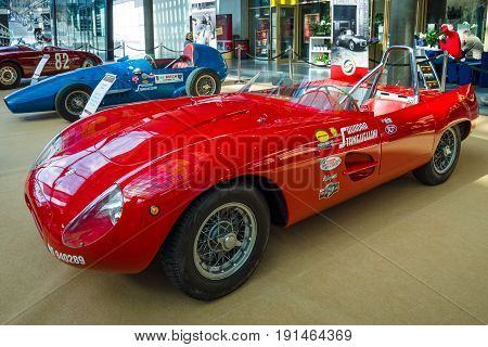 STUTTGART GERMANY - MARCH 02 2017: Sports racing car Stanguellini 750 Sport 1953. Europe's greatest classic car exhibition
