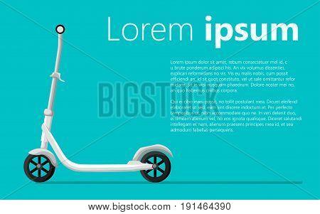 Roller Scooter Set. Balance Bikes. Different Scooters Eco Alternative City Transport. Flat Design Bi