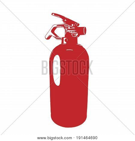red fire extinguisher Safety fire-fighting equipment. Fire Fighting equipment and fire protection vector illustration, isolated on white background.