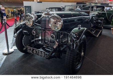 STUTTGART GERMANY - MARCH 02 2017: Vintage car Lagonda 3-Litre Tourer 1934. Europe's greatest classic car exhibition