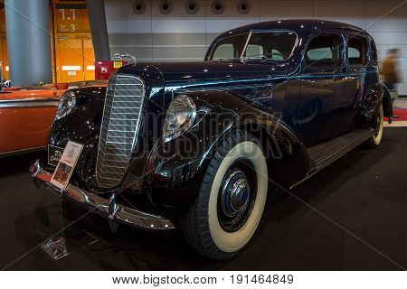 STUTTGART GERMANY - MARCH 02 2017: Luxury car Lincoln Model K 1937. Europe's greatest classic car exhibition