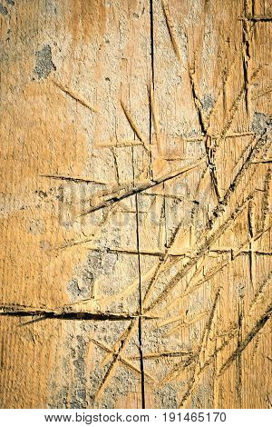 abstract background or texture scratches on wood