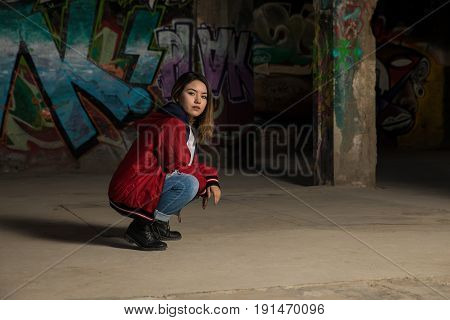Portrait Of A Female Hip Hop Dancer