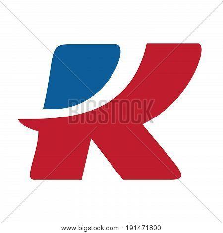 Business corporate letter K logo design vector. Letter K logo for technology.