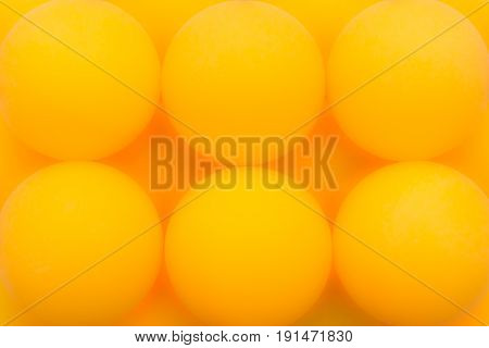 Six Yellow Tennis Balls Sequentially Arranged, Abstract Background