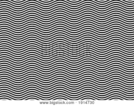 Op Art Homage To Br Black And White Horizontal Sine Stripes