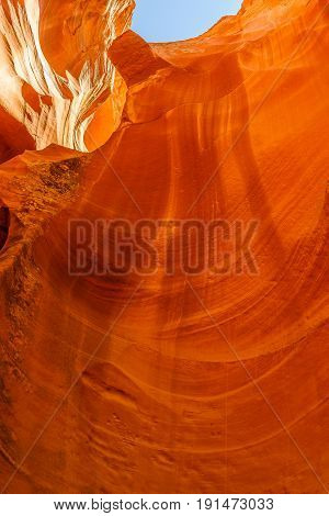 Sandstone formations in Antelope Canyon near the Page, American Southwest, Arizona, USA