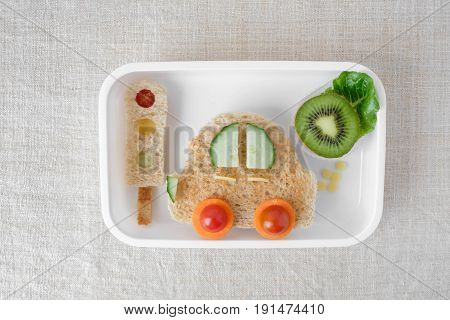 Car Lunchbox, Fun Food Art For Kids