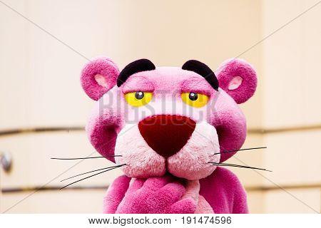 Osaka,JAPAN - 14 Apr, 2017: The Pink Panther in Universal Studios JAPAN