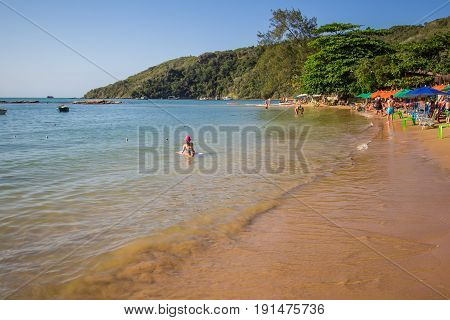Buzios, Brazil - June 11 2017. Tartaruga Beach In Buzios