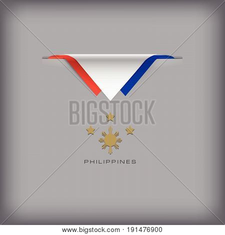 The combination of colors of the national flag Philippines.