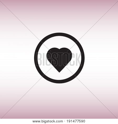 Like flat vector sign. Isolated heart vector icon. Heart pulse indicator vector image.