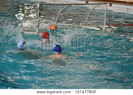 Orenburg, Russia-may 4, 2017 Years: The Boys Play In Water Polo
