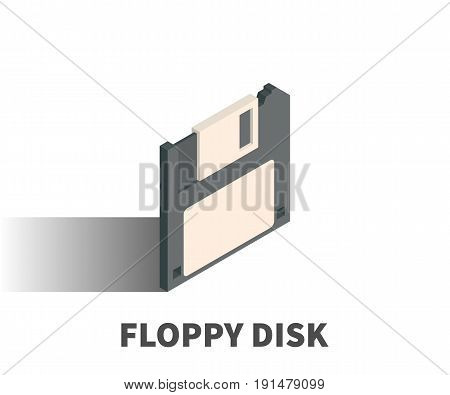 Floppy Disk Icon, Vector Symbol In Isometric 3D Style Isolated On White Background.