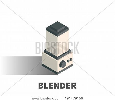 Blender Icon, Vector Symbol In Isometric 3D Style Isolated On White Background.