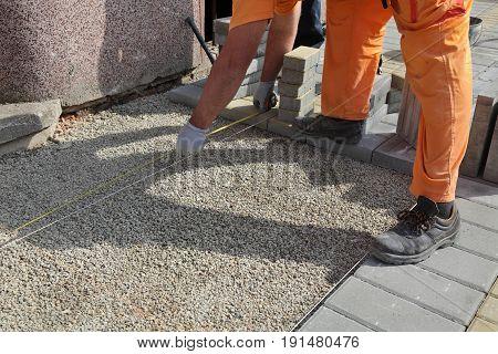 Construction Site, Brick Paver