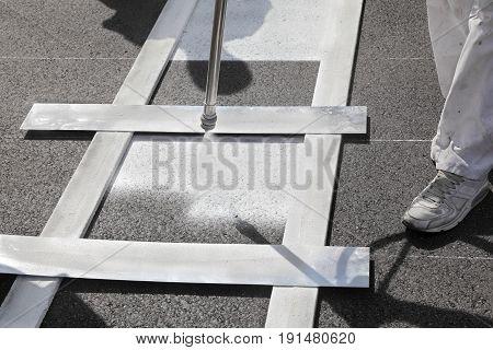 Crosswalk Repairing And Painting