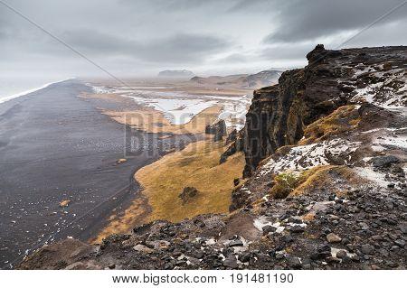 Black Sands Beach Landscape, Iceland