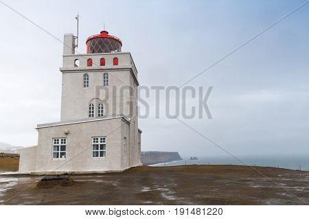 Exterior Of Dyrholaey Lighthouse, Iceland