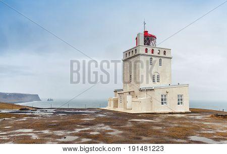 Coastal Icelandic Lighthouse Dyrholaey