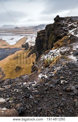 Vertical Mountain Coastal Landscape