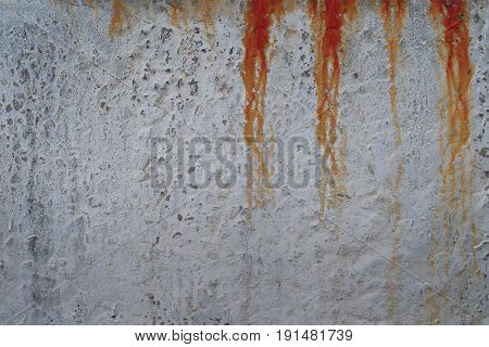 Bloody concrete wall with red blood drops background texture. Illustration for criminal news chronicles.