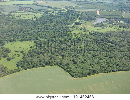 Aerial View Of Hatfield Forest
