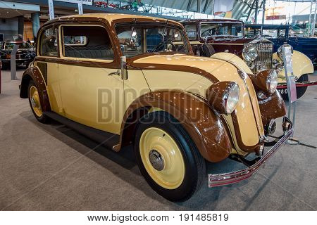 STUTTGART GERMANY - MARCH 02 2017: Compact car Mercedes-Benz 130 (W23) 1934. Europe's greatest classic car exhibition