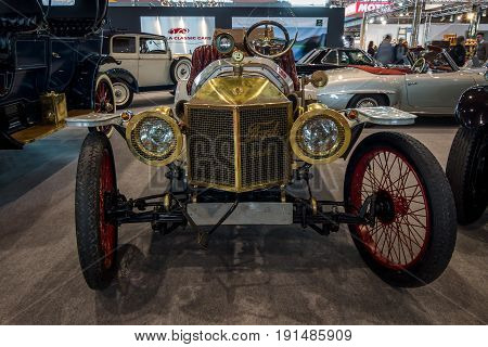 STUTTGART GERMANY - MARCH 02 2017: Vintage car Ford Model T Speedster 1912. Europe's greatest classic car exhibition
