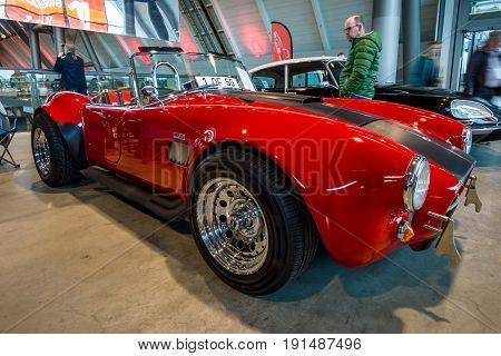 STUTTGART GERMANY - MARCH 02 2017: Roadster Phoenix-Cobra 1989. Europe's greatest classic car exhibition