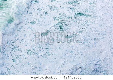 Close up photo of splashing ocean waves