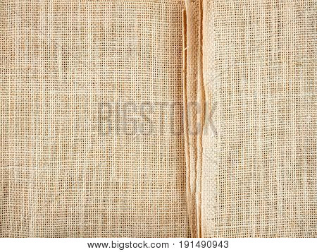 sack fabric wallpaper texture pattern background in white and grey color tone Fine natural string detail textured textile backdrop