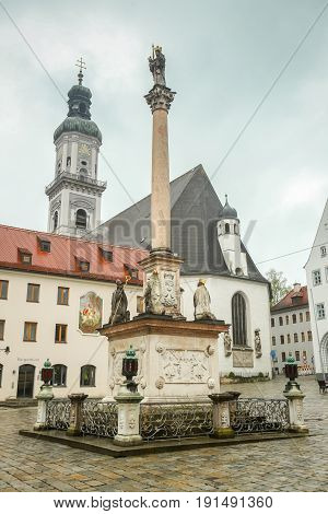 Town Square In Freising