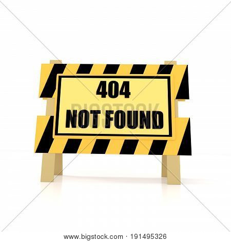 error 404 not found on isolated white in 3D rendering