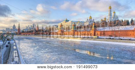 Moscow Russia December 2014. Kremlin-residence of the President of the Russian Federation.