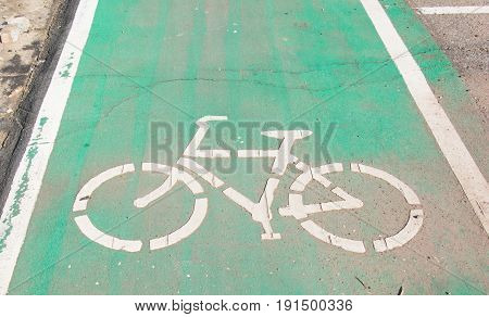 bicycle sign path on the road, bikes lane