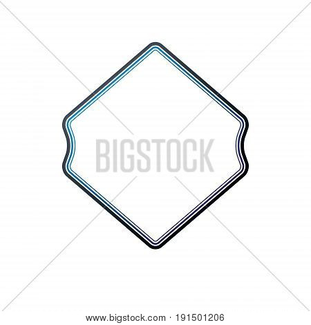 Award vintage rhomb frame with clear copy space made as art medallion design. Vector retro style label heraldry emblem isolated on white background.