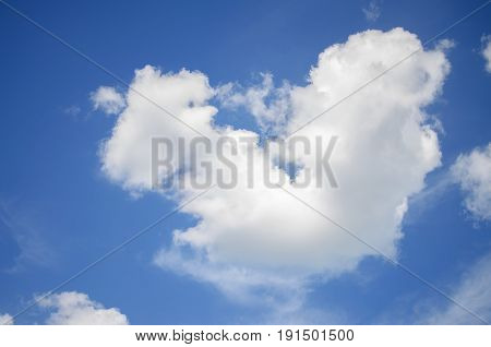Furry Clouds On A Blue Sky On A Beautiful Summer
