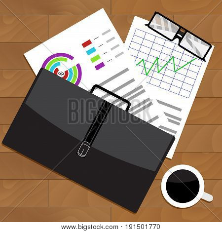 Analysis of economic statistics in workplace. Vector statistics and analysis illustration data analysis
