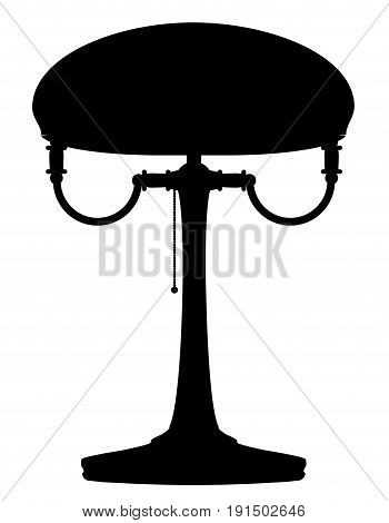 lamp retro vintage icon stock vector illustration black outline silhouette isolated on white background