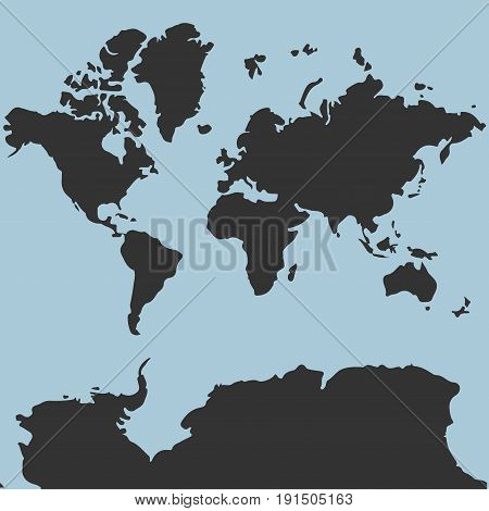map of the world for web site template detailed location covers annual reports flat design world map vector image