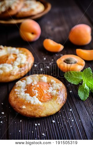 Baked Apricot Pies Topped With Streusel