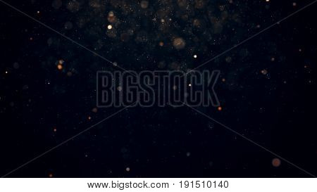 Abstract Background With Glowing Particles