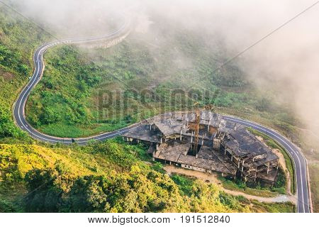 Top view around first world hotel is the largest hotel of Genting Resort in the most scenic site in Genting Highlands Pahang Malaysia