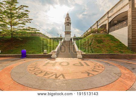 IPOH, PERAK, MALAYSIA - APRIL 14, 2017: Birch Memorial or Tugu Peringatan Birch located at Ipoh Perak Malaysia. The Memorial was built on 1909.