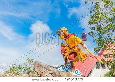 The Monkey God statue at Chin Swee Caves Temple in Genting Highlands Pahang Malaysia