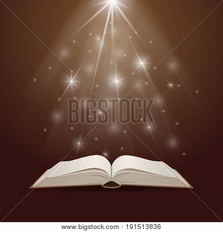 Opened Magic Book