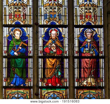 Stained Glass - Catholic Saints And Jesus