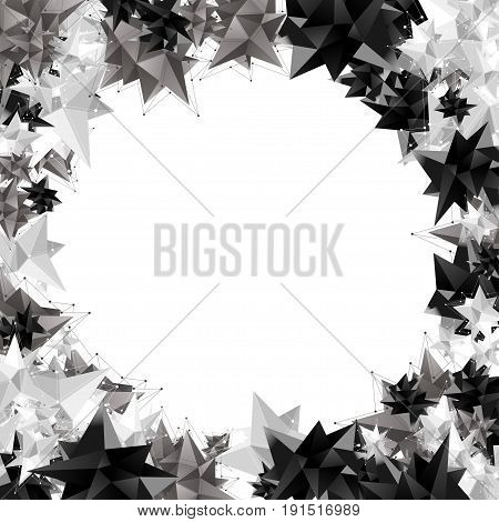 Vector modern geometric shape. 3d polygon background
