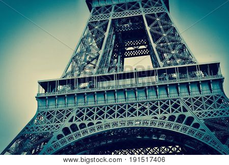 iconic view of the eiffel tower in paris